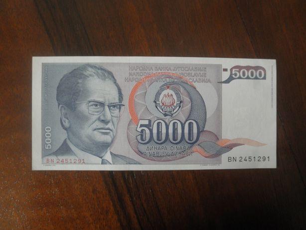 banknot JUGOSLAWIA stan UNC