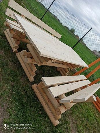 Zestaw Ogrodowy stół+dwie ławki+dwa krzesełka