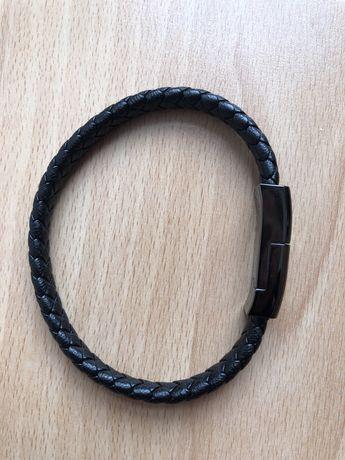 Bransoletka ładująca USB Lightning kabel ładowarka iPhone na ręke