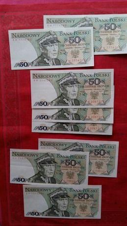 Banknoty 50zł 1988r.