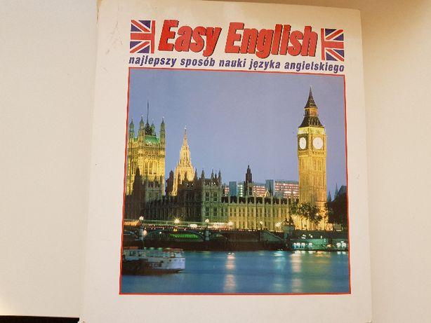 Książka segregator w postaci książki języka angielskiego Easy English
