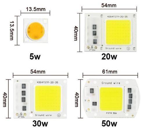 Светодиодная матрица ,модуль,прожектор.5- 50 ватт с драйвером на 220v