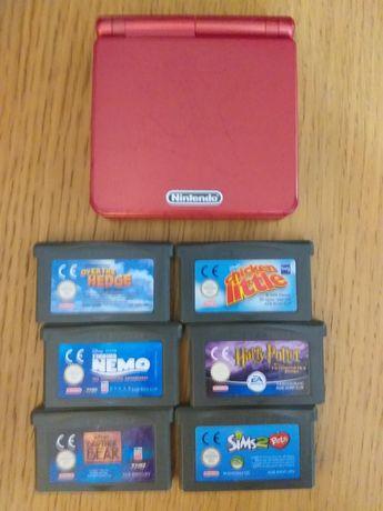 Gameboy Advance SP com 6 jogos
