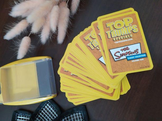 игровые карты Top Trumps the simpsons Симпсоны в коробке настольная