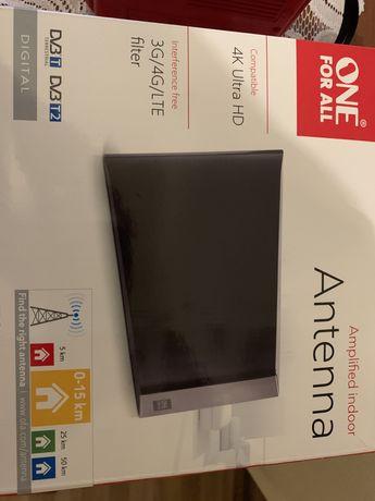 Nowa Antena do telewizora + złącza i rozdzielacz antenowy