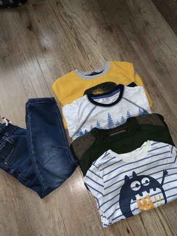 Ubranka dla chopca 98 bluzy spodnie koszulka sweter