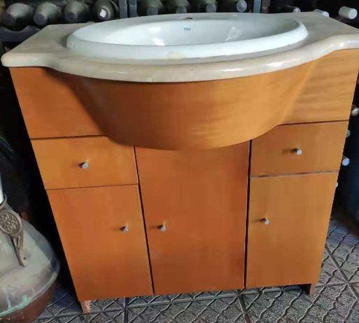 lavatório + movel  de casa de banho