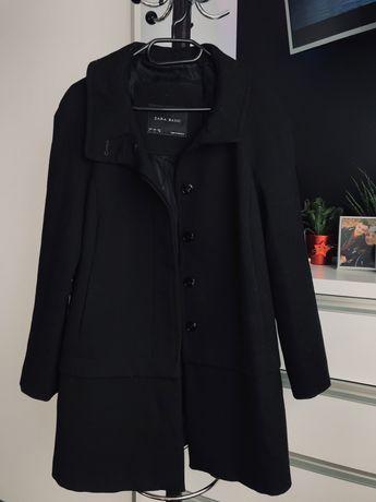 Czarny płaszcz Zara, rozmiar L