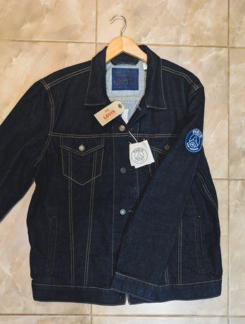 Джинсовка Levis колаборация с PSG , курточка