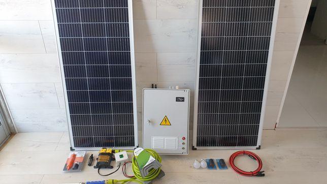 Vendo kit solar 200w completo.