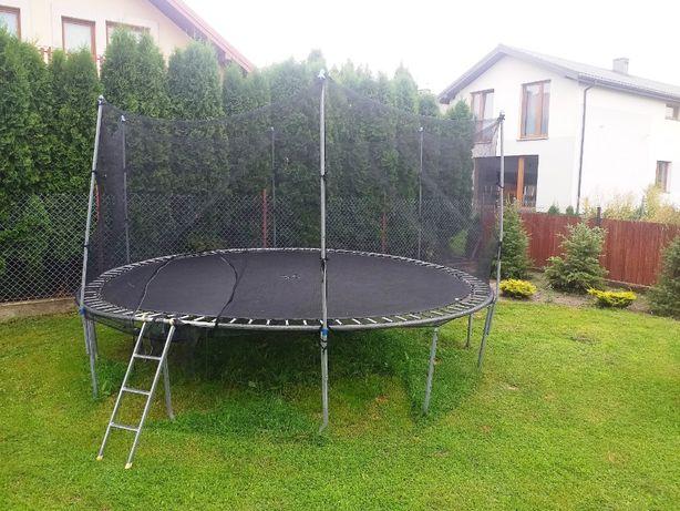 trampolina duża 450 cm komplet
