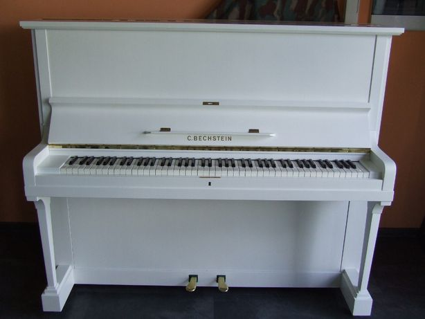 Pianino C.Bechstein mod 8 białe z 1953 r.