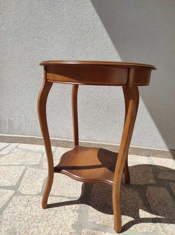 Mesa de apoio em madeira Castanho