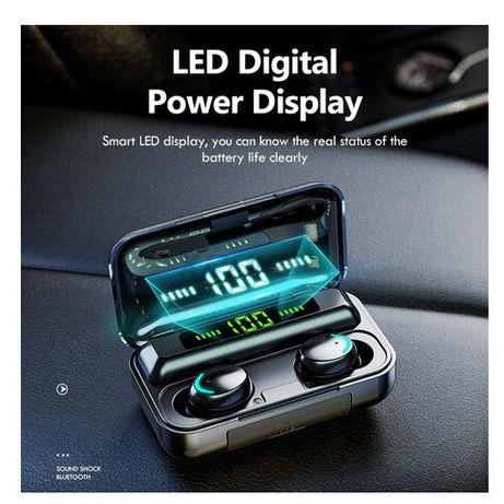 F9-V5.0 Bluetooth 5,1 TWS сенсорная гарнитура power bank 2200