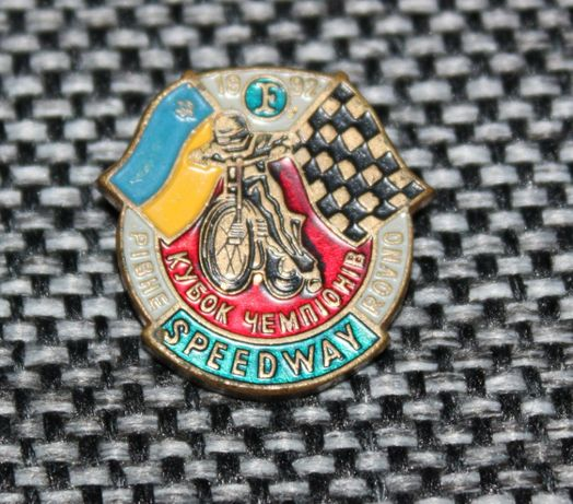 Przypinka, odznaka żużel, Speedway Championship 1992 Ukraina Równe