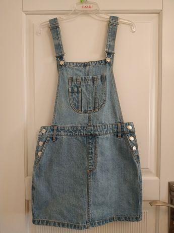 Sukienka spódniczka jeansowa dżinsowa na szelkach Bik Bok r M jak NOWA