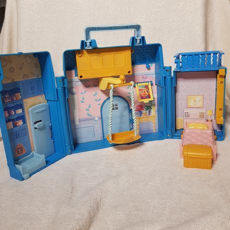 Domek dla lalek Niedźwiedź w dużym niebieskim domu