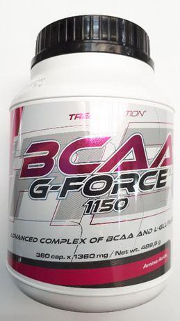 Bcaa G-force aminokwasy rozgałęzione 360 kapsułek firmy Trec