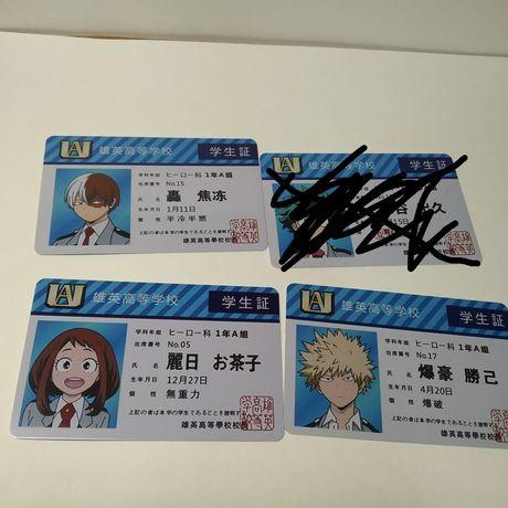 Карточки из аниме Моя геройская академия