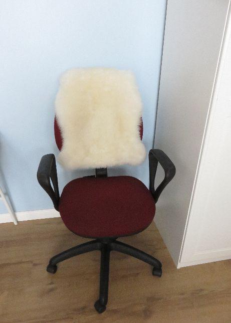 Fotel biurowy biuro obrotowy bordowy czarny jak nowy