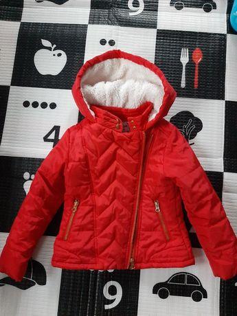 Kurtka czerwona zimowa 104