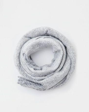 Базовий шарф палантин серый бахрама
