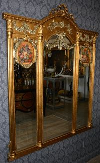 Espelho moldura de alabastro