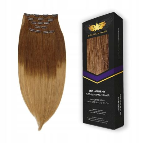 Doczepiane włosy CLIP IN 50-55 cm naturalne 6 taśm STAR MY HAIR
