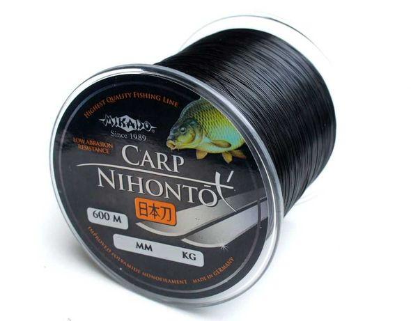 PROMOCJA Żyłka karpiowa 600m MIKADO NIHONTO CARP czarna 0,30mm 10,90kg