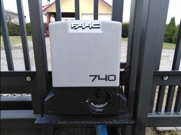 Napęd FAAC 740 do bramy przesuwnej z montażem - 1900 zł