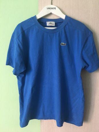 Śliczna koszulka Lacoste t-shirt 7 8 lat 134 140 bluzka niebieska