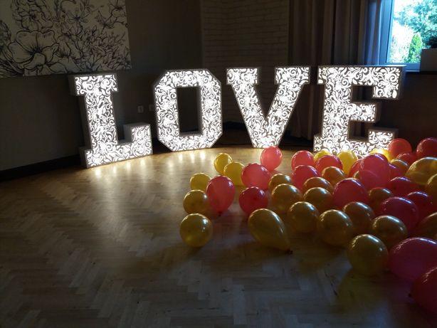 Napis LOVE ażurowy/klasyczny