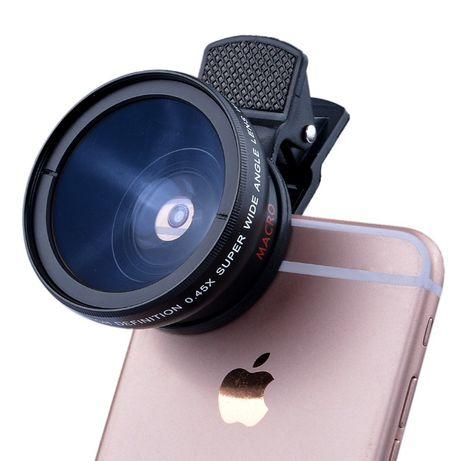 Объектив линза 2в1 0.45X 37мм широкоугольный+макро (для телефона GoPro
