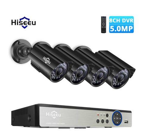 Sistema Vídeo Vigilância * 4 Camaras 5MP IP67 * Visão Noturna * NOVO