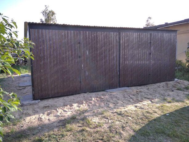 Garaż Blaszany 6x5 Brązowy, Grafitowy , Ceglasty, Zielony