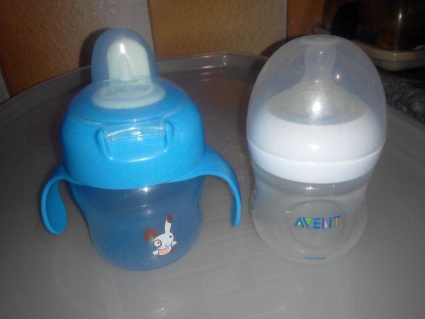 Бутылочка и чашка-непроливайка Philips Avent