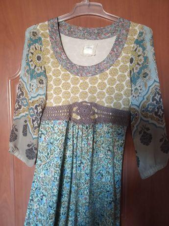 Sukienka container 36 38 rewelacyjna jakość piękny print