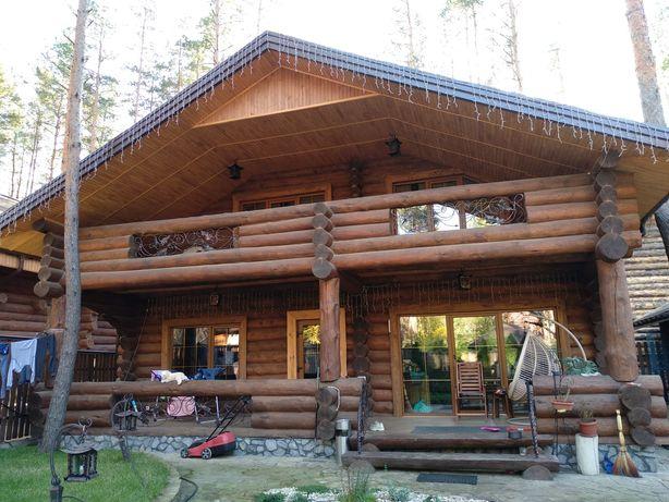 Дикий сруб оцилиндровочный дом деревянный дом