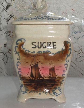 Pojemnik kuchenny porcelanowy cukier