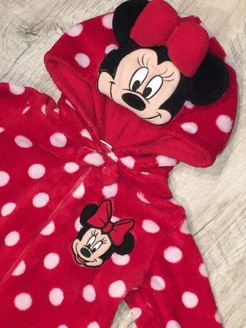 Disney myszka Minnie kombinezon 92 pajac strój j nowy czerwony kokarda