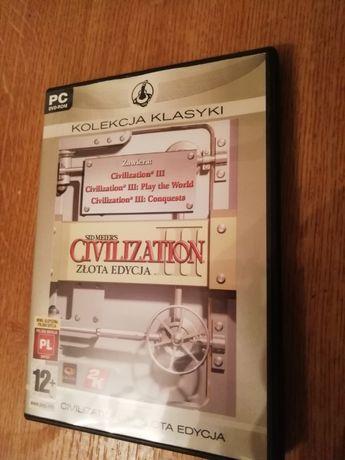 Gra na PC DVD-ROM Civilization III Sid Meiers Złota Edycja Oryginał