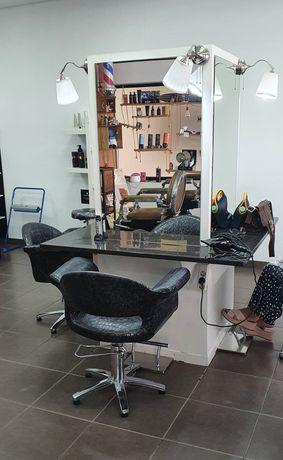 Móvel cabeleireiro 4 postos de trabalho