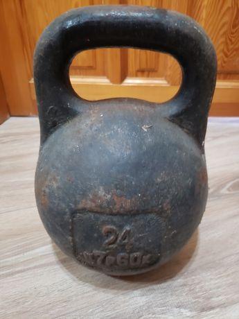 Гиря 24 кг, для качка