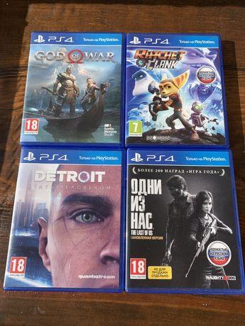 Игра на PS4 Detroid/Rachet Clank/God of War/The last of us
