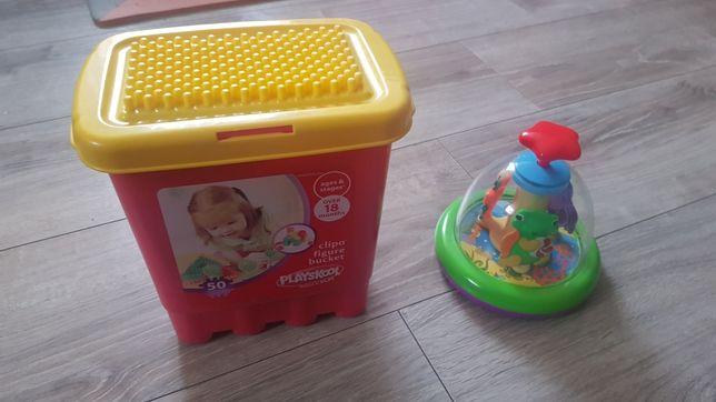Zestaw zabawek klocki playskool bączek kiddieland dumel