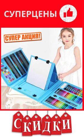 ДетскийБольшой набор 208 предметов для рисования и творчества Set349
