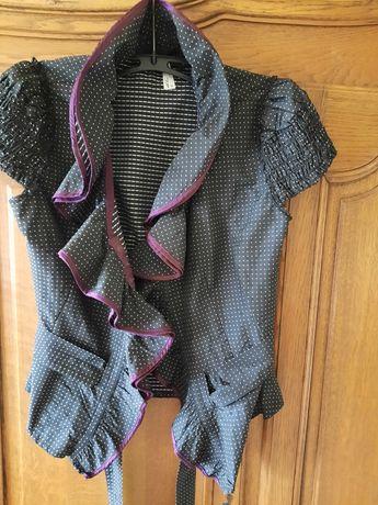 NEXT Elegancka bluzka żakiet wdzianko w groszki r.38/40 M/L