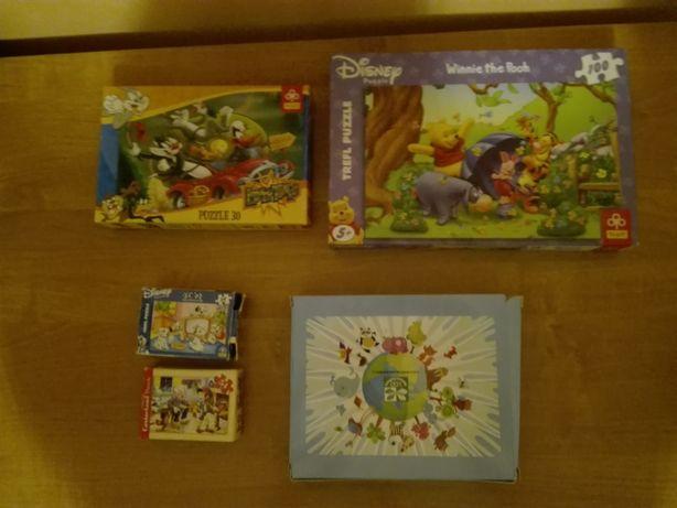 puzzle różne, książeczka za kosmetyki np. AVON