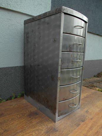 Szafka metalowa warsztatowa 6 szuflad ryflowana