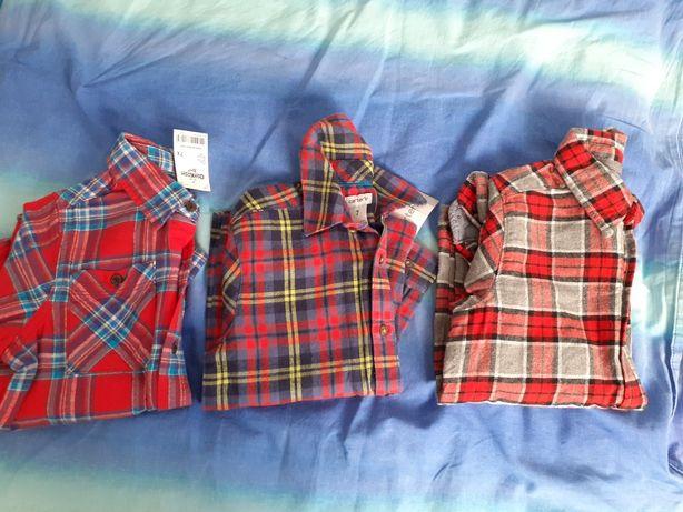 Koszule flanelowe dla 6-7 latka
